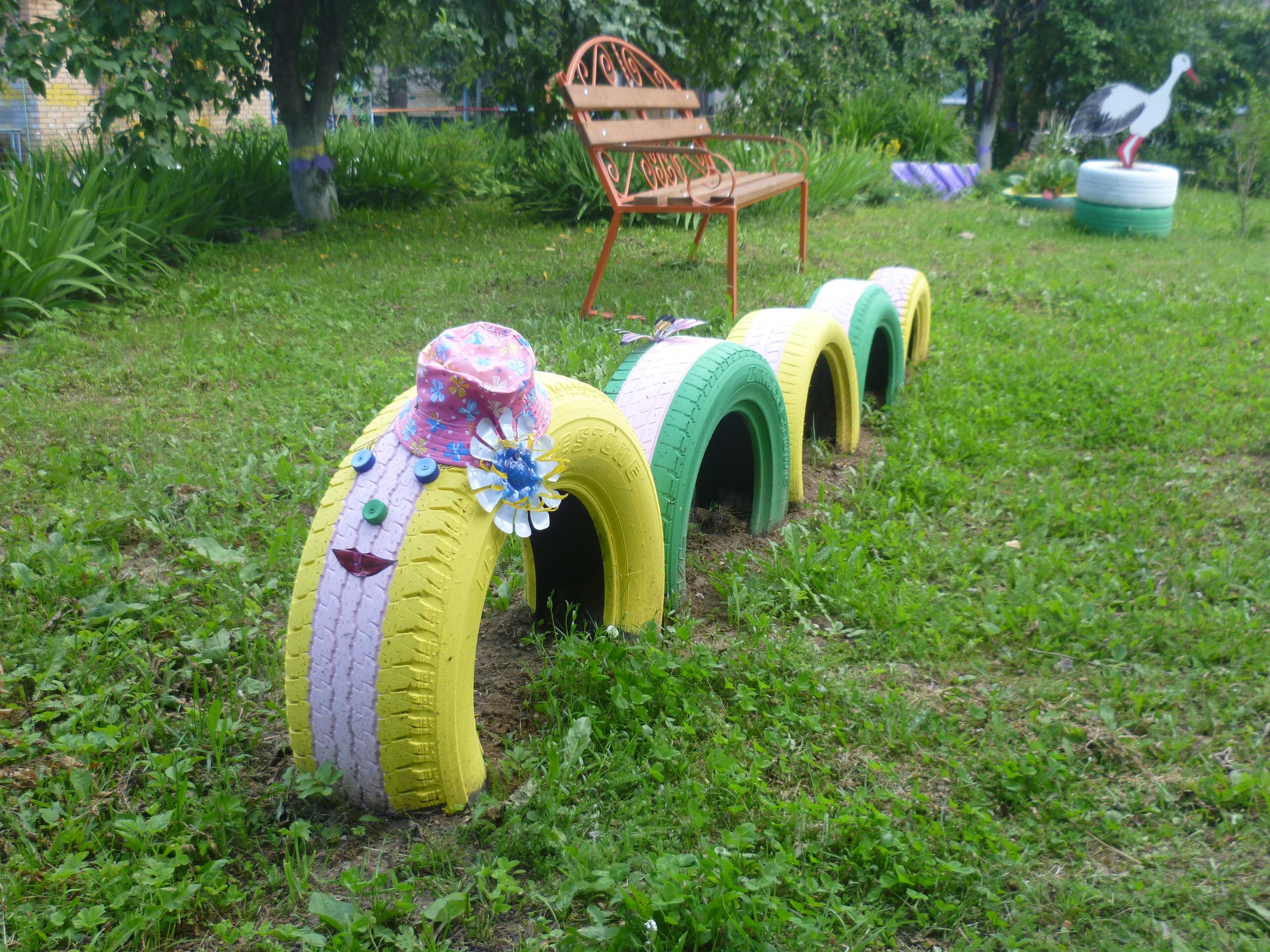 Гусеница для сада своими руками фото