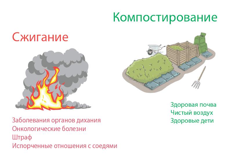 Сжигание и компостирование