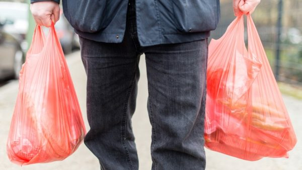 Пластиковые сумки из супермаркета