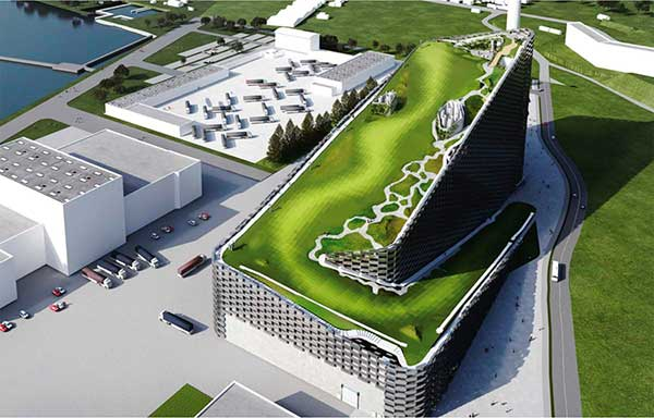 BIG's Waste-to-Energy Plant as Ski Slope Roof