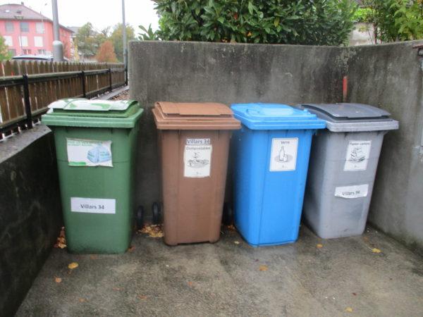 Сортировка мусора в местах сбора