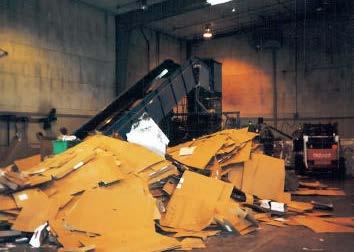Отходы картона на сортировке