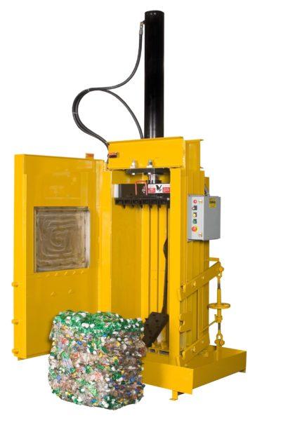 Вертикальный пакетировочный пресс с ручной обвязкой
