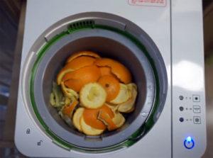 Апельсиновые шкурки перед сушкой