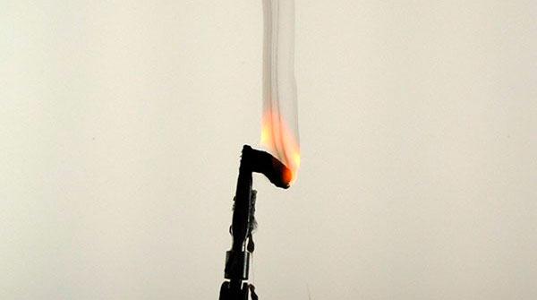 Определение типа пластика по пламени