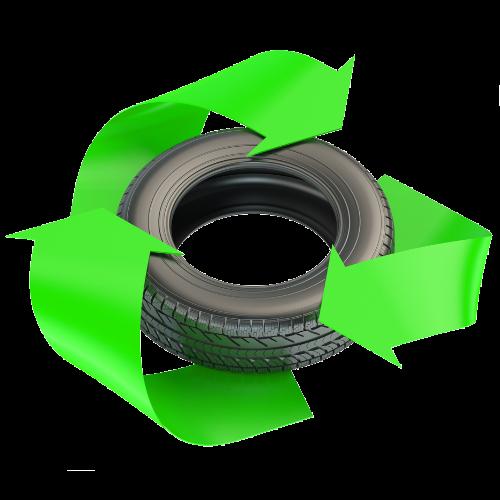 Вторичная переработка изношенных шин