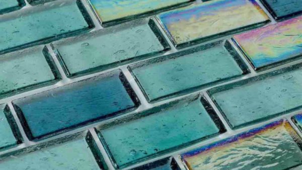 Стеклянная плитка из стекобоя