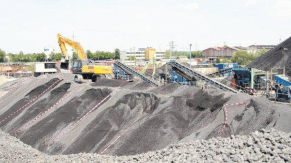 Добыча песка из шлаковых отвалов