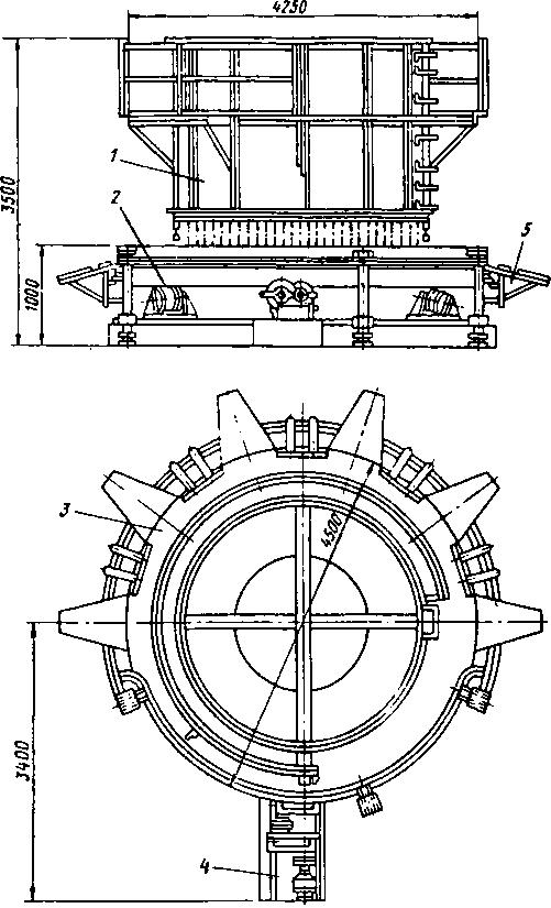 Механизированный стол для сортировки лома