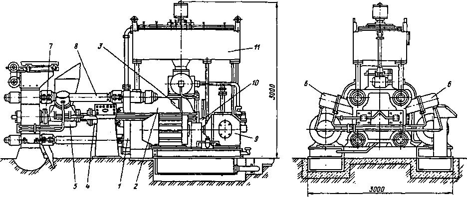 Пресс модели Б 6238 для брикетирования стружки