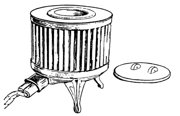 Тигельная электрическая печь